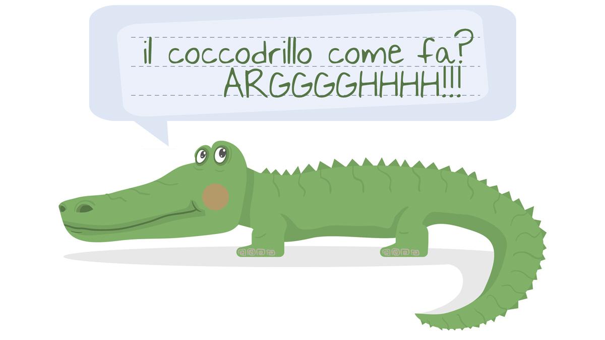 il coccodrillo come fa canzone da
